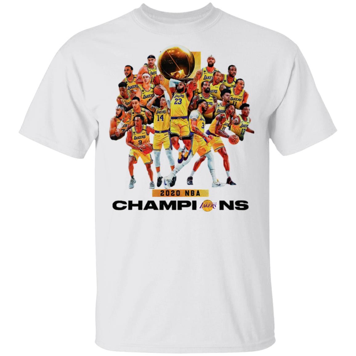 2020 Nba Champions Los Angeles Lakers Shirt