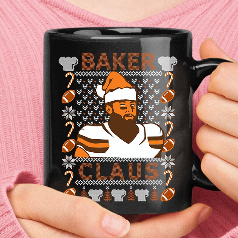 Baker Claus Baker Mayfield Cleveland Brown Christmas Mug