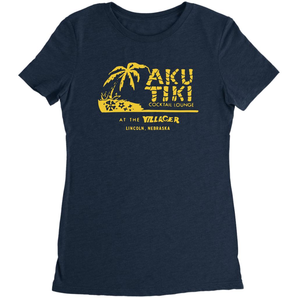 Aku Tiki – Nebraska – Vintage Tiki Bar Unisex T Shirt,Premium T Shirt,Ladies T Shirt