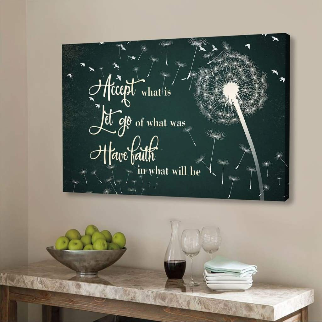 (Red) Just breathe canvas wall art
