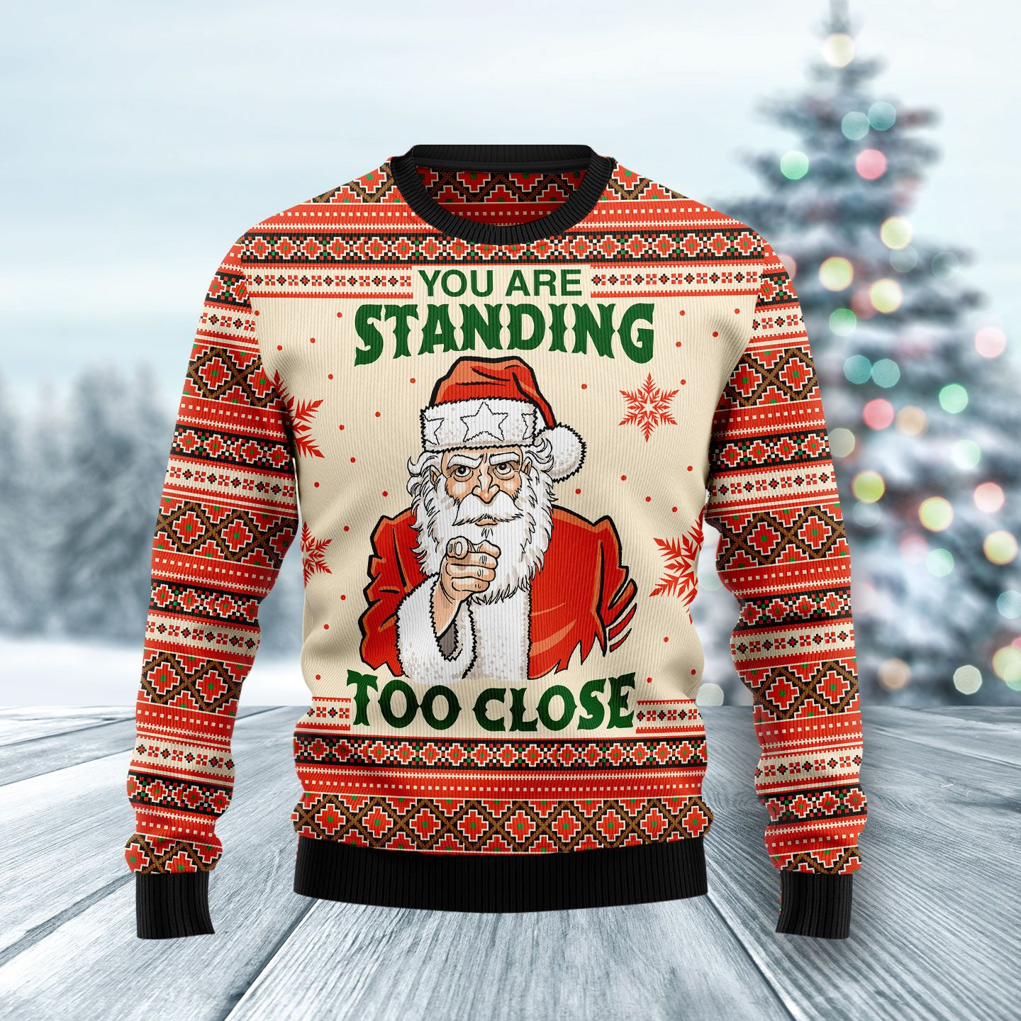 You My Friend Should Have Been Swallowed Wool Christmas Sweater