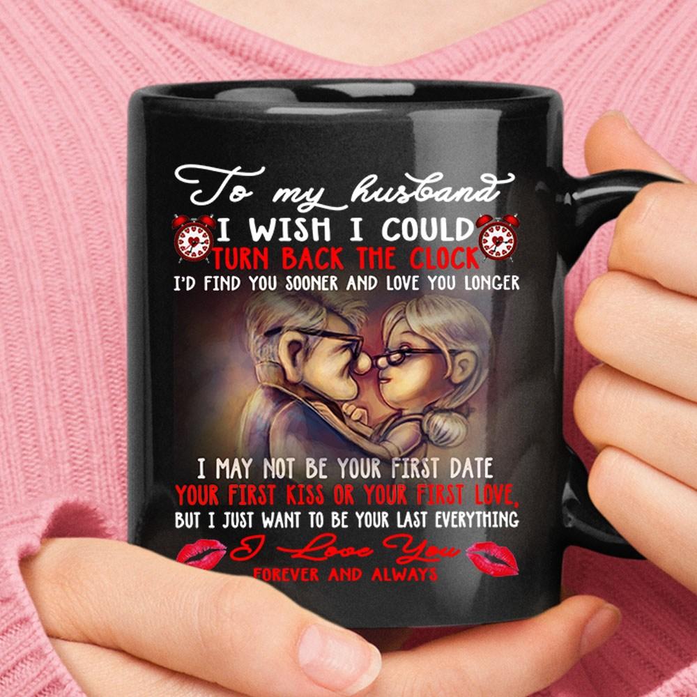 To My Husband I Wish I Could Turn Back The Clock Carl & Ellie Ceramic Mug