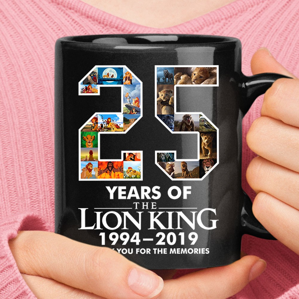 25 Years Of The Lion King Thank You For The Memories Mug