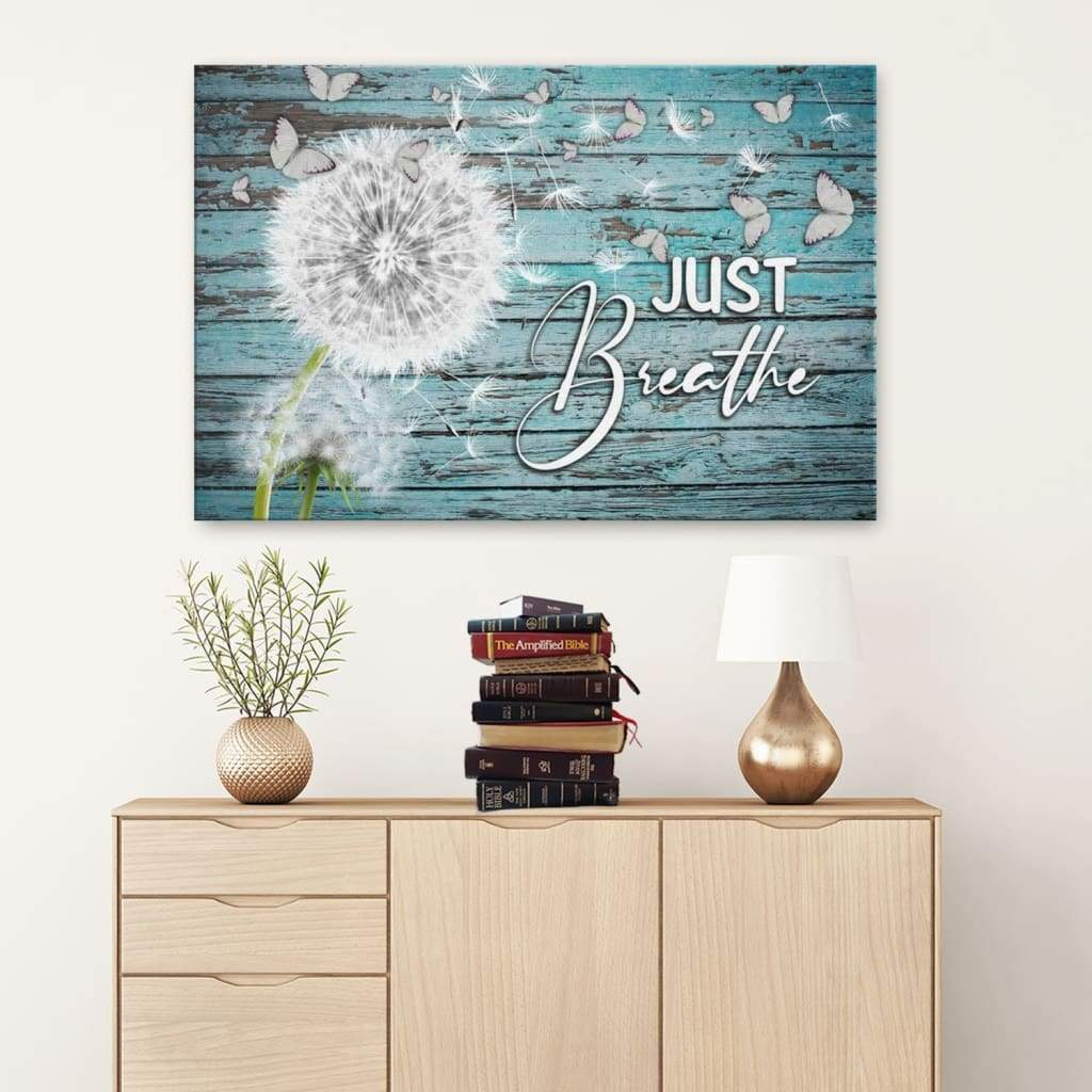 Just breathe canvas wall art