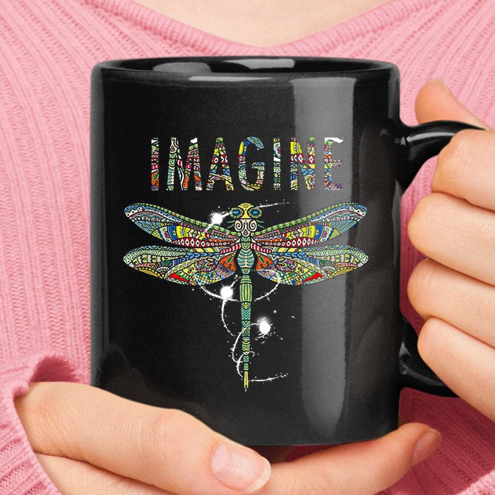 You May Say I'm A Dreamer Dragonfly Imagine Hippie Mug