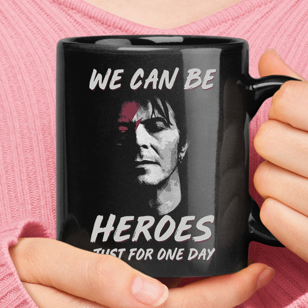 David Bowie We Can Be Heroes Just For One Day Mug