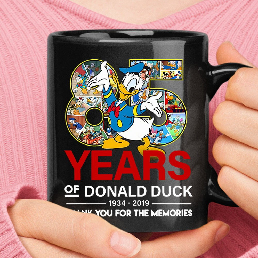 85 Years Of Donald Ducks 1934-2019 Thank You For The Memories Mug