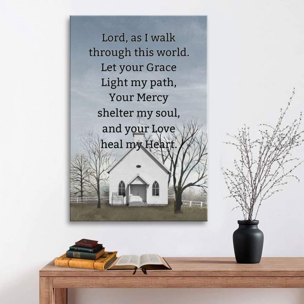 A daily prayer canvas print