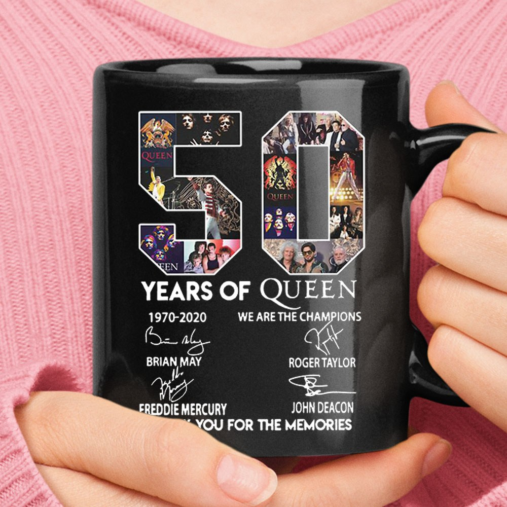 50 Years Of Queen Thank You For The Memories Signatures Ceramic Mug