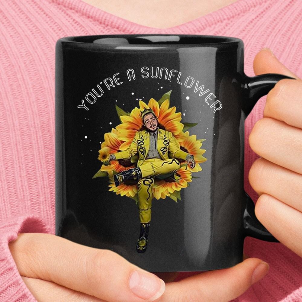 You're A Sunflower Post Malone Mug