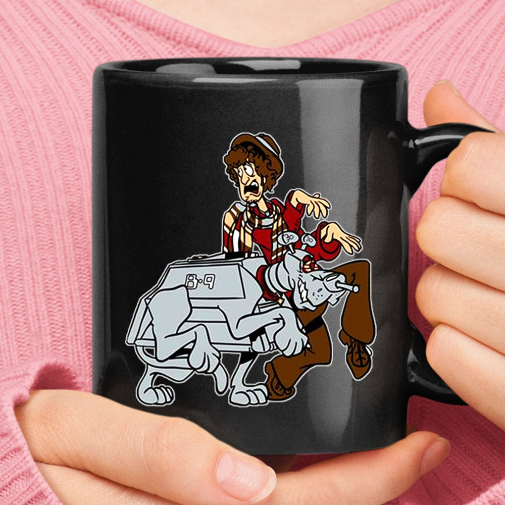 4th Doctor And Robotic Dog K9 Scooby Doo Doctor Who Mug