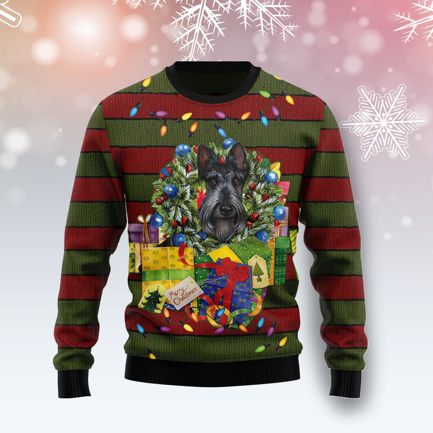 Yorkshire Terrier Gift Xmas Wool Christmas Sweater