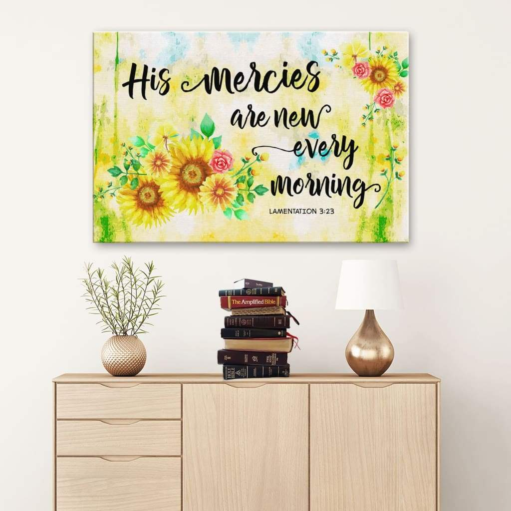 1 John 4:19 Bible verse wall art – We love him because he first loved us canvas