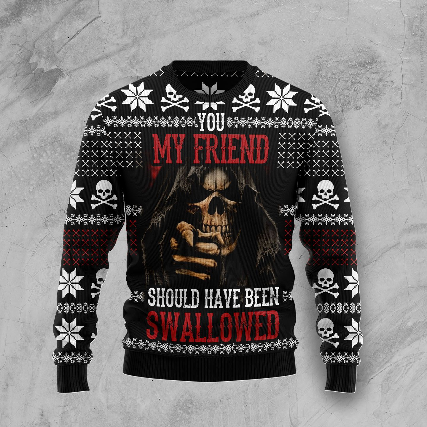 You Are Standing Too Close Wool Christmas Sweater